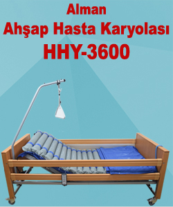 Alman Ahşap Hasta Karyolası HHY-3600