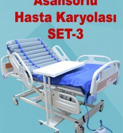Asansörlü Hasta Karyolası Seti SET-3