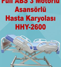 Full ABS 3 Motorlu Asansörlü Hasta Karyolası HHY-2600