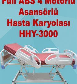 Full ABS 4 Motorlu Asansörlü Hasta Karyolası HHY-3000