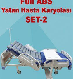 Full ABS Yatan Hasta Karyolası SET-2